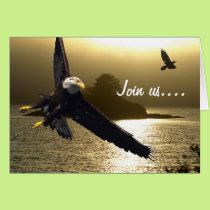 Bald Eagle & Raven Greeting Cards