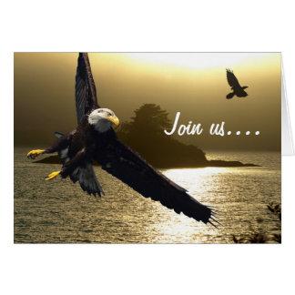 Bald Eagle & Raven Greeting Cards