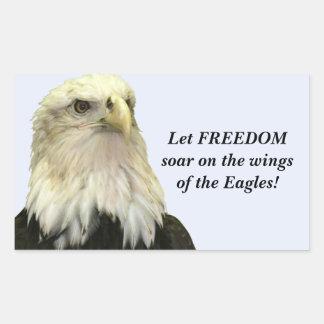 Bald Eagle Rectangle Sticker