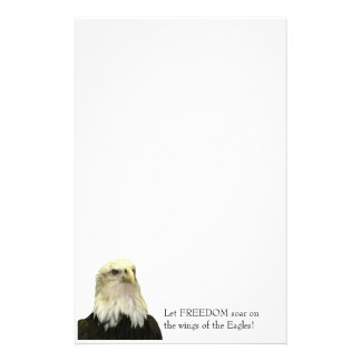 Bald Eagle Recycled Paper Stationery