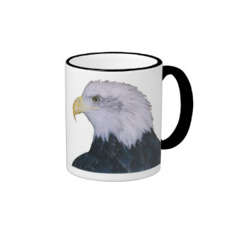 Bald Eagle Ringer Coffee Mug