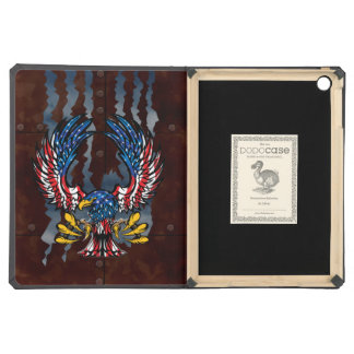 Bald Eagle ripping through rusted metal Cover For iPad Air