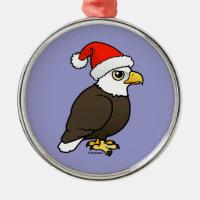 Bald Eagle Santa Premium circle Ornament