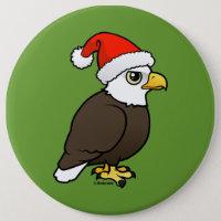 Bald Eagle Santa Round Button