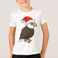 Bald Eagle Santa Kids' American Apparel Fine Jersey T-Shirt