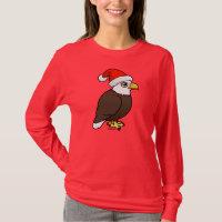 Bald Eagle Santa Women's Basic Long Sleeve T-Shirt