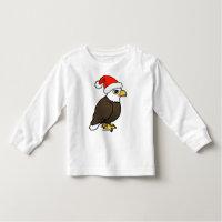 Bald Eagle Santa Toddler Long Sleeve T-Shirt
