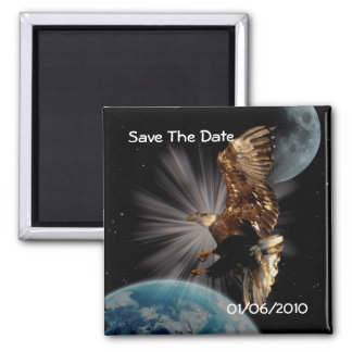 Bald Eagle Save the Date Magnet