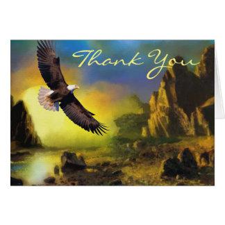 Bald Eagle Scenic Landscape Wedding Thank You Card