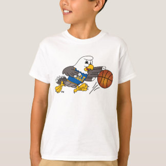 Bald Eagle School Mascot Playing Basketball T-Shirt