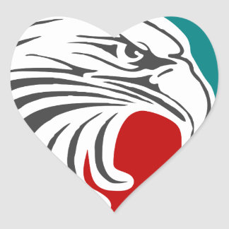 Bald Eagle Security And Protection Heart Sticker