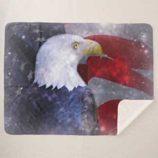 Bald Eagle Sherpa Blanket