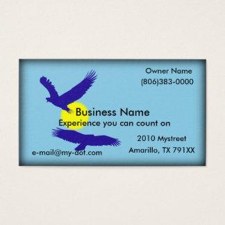 Bald Eagle Silhouette Business Card