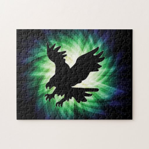 Bald Eagle Silhouette; Cool Jigsaw Puzzles