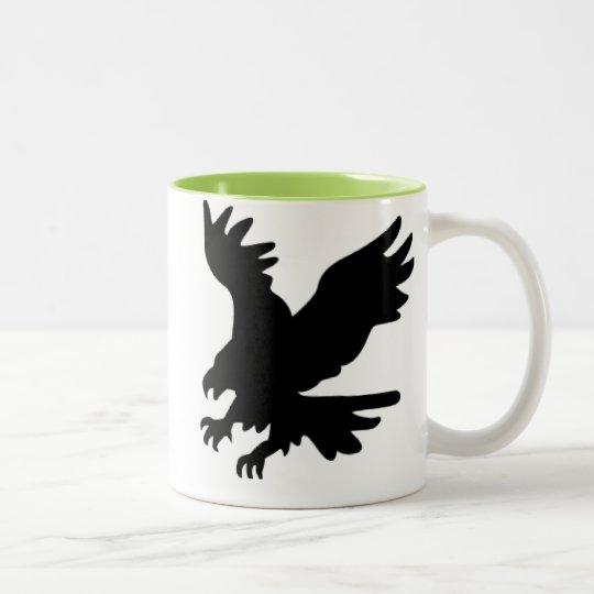 Bald Eagle Silhouette; Cool Two-Tone Coffee Mug