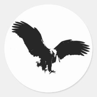 Bald Eagle Silhouette Stickers