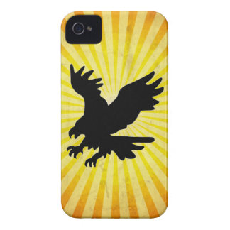 Bald Eagle Silhouette; yellow iPhone 4 Case
