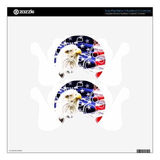 Bald Eagle Decal For PS3 Controller