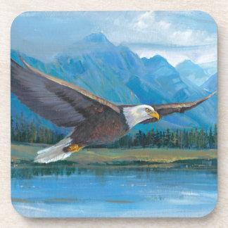 Bald Eagle Soaring Drink Coaster