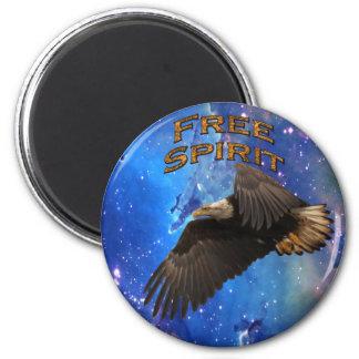 """Bald Eagle & Space """"Free Spirit"""" Motivation Magnet"""