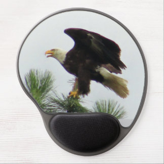 Bald Eagle Sreading It's Wings To Fly Gel Mouse Pad