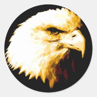 Bald Eagle Round Sticker
