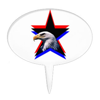 Bald eagle the three star cake pick
