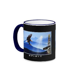 Bald Eagle & Totem-Pole Drinking Mug