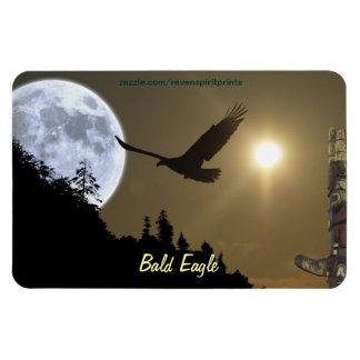 Bald Eagle Totem & Super Moon Wildlife Magnet