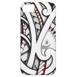 Bald eagle tribal tattoo design in red iPhone 5 covers