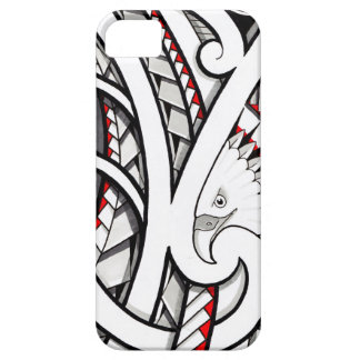 Bald eagle tribal tattoo design in red iPhone SE/5/5s case