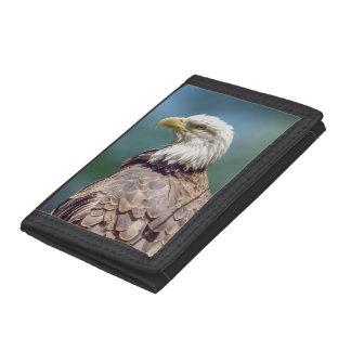 Bald Eagle Trifold Nylon Wallet