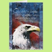 Bald Eagle Troop Support Card A Belief in Freedom