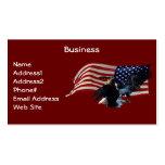 Bald Eagle/US Flag Business Card