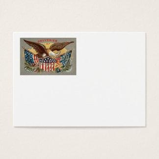Bald Eagle US Flag Fireworks Firecracker Business Card