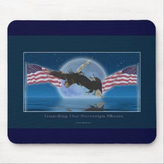 BALD EAGLE & US FLAG Patriot Series Mouse Pad