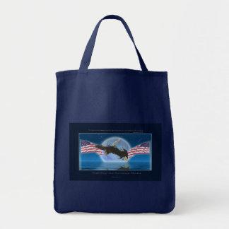 BALD EAGLE & US FLAG Patriot Series Tote Bag