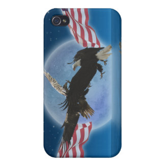 Bald Eagle & US Flag Patriotic iPhone Case
