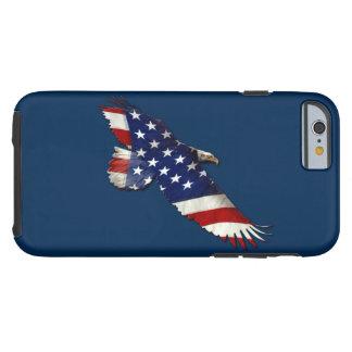 Bald Eagle & US Flag Patriotic Theme Tough iPhone 6 Case