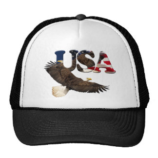 Bald Eagle & USA American Patriot Series Hat