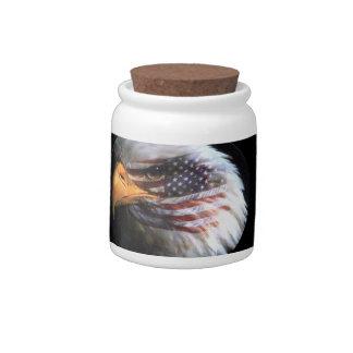 Bald Eagle - USA Flag Candy Jars