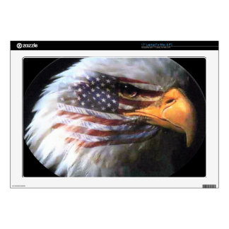 "Bald Eagle - USA Flag Decal For 17"" Laptop"