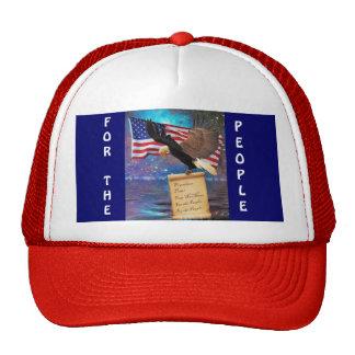 Bald Eagle & USA Flag Patriotic Cap Trucker Hat