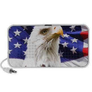 bald eagle usa flag peace and love laptop speaker