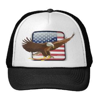 Bald eagle Usa flag Trucker Hat