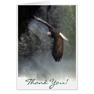 BALD EAGLE & WATER FALL Thank You Card