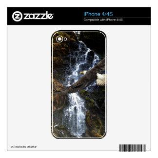 Bald Eagle & Waterfall 2 Wildlife iPhone 4 Skin