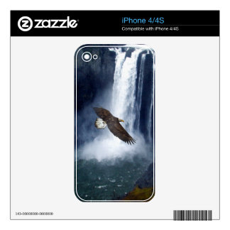 Bald Eagle & Waterfall Wild Animal iPhone Skin Decal For The iPhone 4S