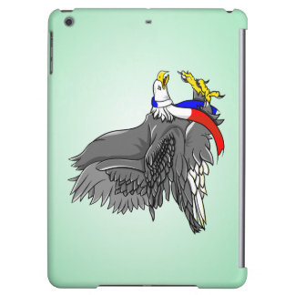 Bald Eagle Wearing Patriotic Neck Scarf iPad Air Cover