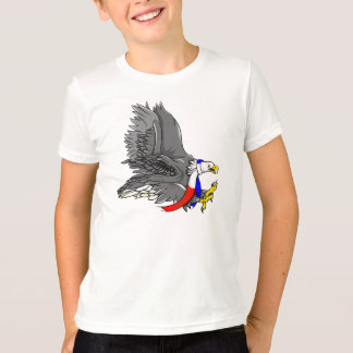 Bald Eagle Wearing Patriotic Neck Scarf T-Shirt